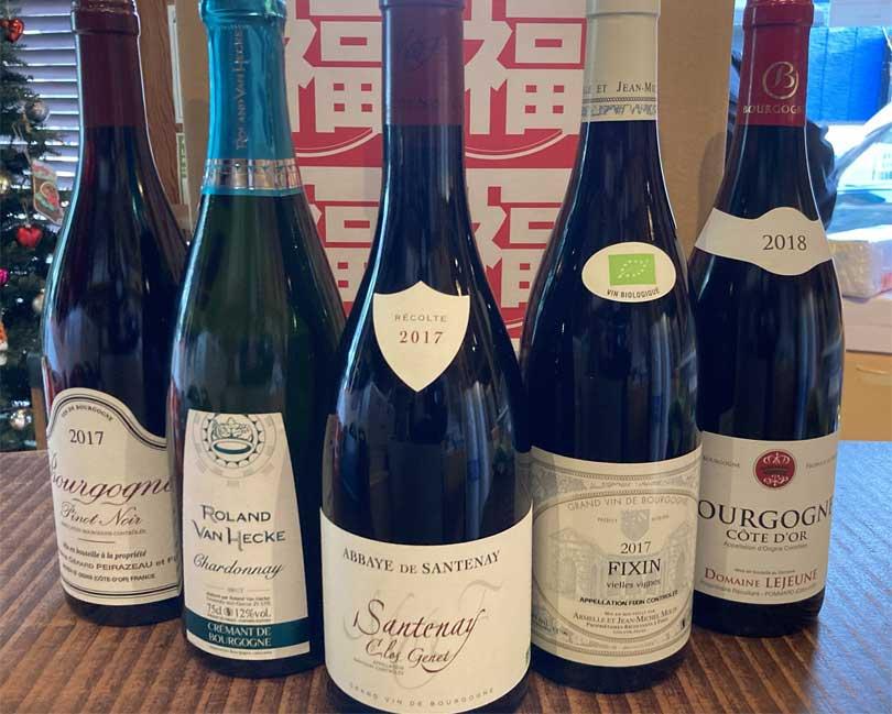 ブルゴーニュワインの福袋も人気です